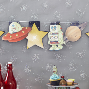 Space Adventure Party Bunting - 3.5m